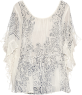 Mes Demoiselles Bambino cotton-gauze ruffled top