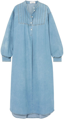 Sonia Rykiel Oversized Cotton-blend Chambray Midi Dress