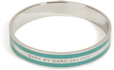Marc by Marc Jacobs Striped Enamel Logo Bracelet