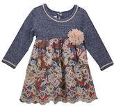 Iris & Ivy Baby Girls Printed Embroidered Long Sleeve Dress