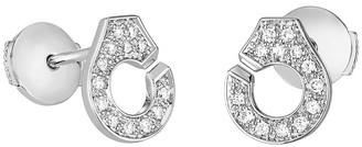 Dinh Van Menottes R7.5 Diamond Stud Earrings - White Gold