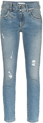 Givenchy Distressed Stretch-Denim Skinny Jeans