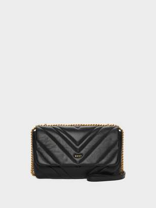 DKNY Vivian Chevron Quilted Shoulder Bag