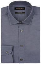 Jaeger Melange Herringbone Slim Fit Shirt, Navy