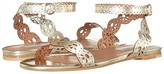 Tabitha Simmons Bobbin Sandal (Champagne Mirror Crack) Women's Shoes