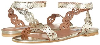 Tabitha Simmons Bobbin Sandal (Champagne Mirror Crack) Women's Shoes