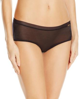 Gossard Glossies Short Black Low Rise Womens Thong Black Large