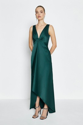 Coast Satin Plunge High Low Maxi Dress