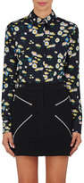 Paco Rabanne Women's Floral Satin Blouse-BLACK