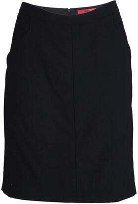 HUGO BOSS Hugo By Black Wool Rossla Skirt M