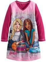 Barbie Girls 4-12 Reversible Plush Nightgown