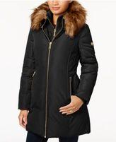 MICHAEL Michael Kors Faux-Fur-Trim Layered Down Coat