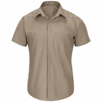Red Kap Men's Big & Tall Sleeve Pro Airflow Work Shirt Grey L (Long)