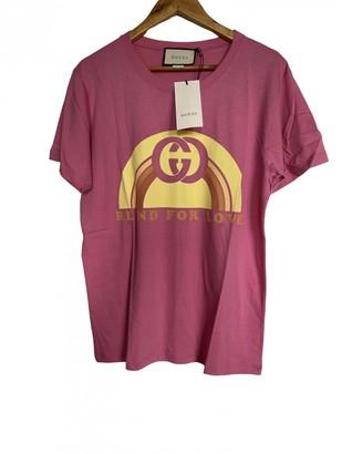 Gucci Pink Cotton T-shirts