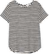 H&M Short-sleeved Blouse - Black/white striped - Ladies