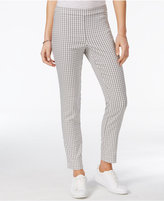 Maison Jules Gingham-Print Pull-On Pants, Only at Macy's