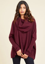 A Cozy Touch Sweater in Burgundy in S