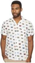 Original Penguin Short Sleeve Cassette Print on Dobby Shirt Men's Short Sleeve Button Up