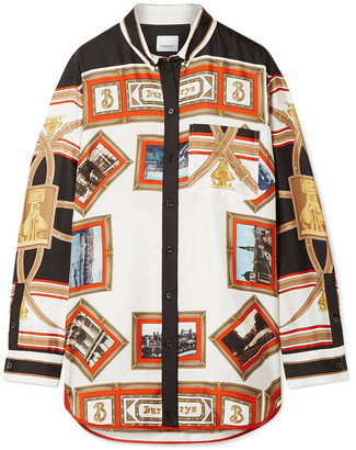 Burberry Printed Silk-twill Blouse