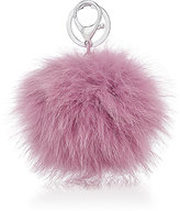 Adrienne Landau Fur Pom-Pom Key Chain-PURPLE