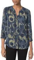 NYDJ Notched-Neck Printed Blouse