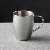 Crate & Barrel Stainless Double Wall Mug 14oz
