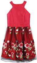 Speechless Girls 7-16 Embroidered Applique Rose Skirt Dress