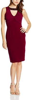 Elise Ryan Women's Neck Trim Pencil Dress