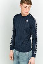 Kappa Navy Bolo Stripe Long-sleeve Jersey Top