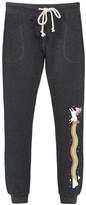 Instant Message Women's Women's Sweatpants HEATHER - Heather Charcoal Unicorn Rainbow Joggers - Women & Plus