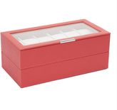 Wolf Set of 2 - 12 Piece Watch Trays, Coral
