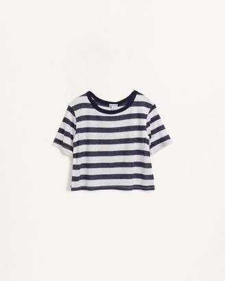 Splendid Little Girl Navy Stripe Tee