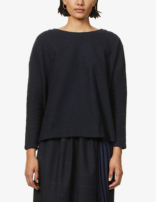Sessun Austin button-embellished cotton-blend knitted jumper