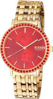 Versus By Versace Manhasset Round 42mm Lion-Dial Women's Watch, Golden/Red
