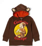 Freeze Brown 'Curious George' Ear Zip-Up Hoodie - Toddler