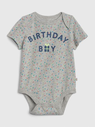 Gap Baby Birthday Print Bodysuit
