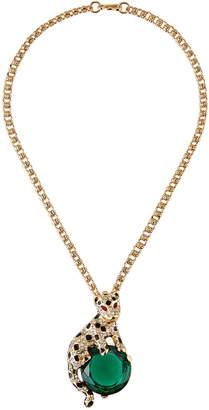 Kenneth Jay Lane Leopard Pin-Pendant Necklace