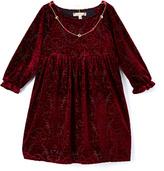 Speechless Merlot Empire-Waist Necklace-Accent Dress - Girls