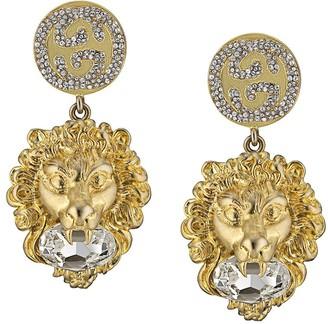 Gucci GG lion head earrings