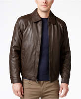 Nautica Men's Big and Tall Point Collar Leather Jacket