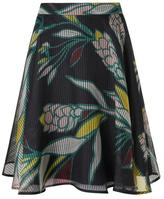 LK Bennett Kalia Black Silk Skirt