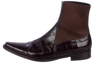 Dolce & Gabbana Eel Skin Chelsea Boots