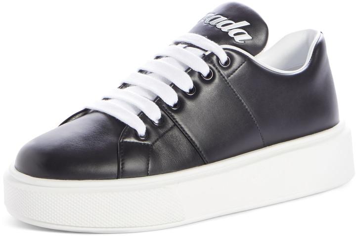 Prada Logo Platform Sneaker