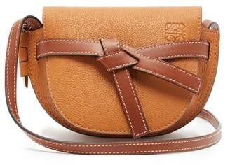 Loewe Gate Mini Grained Leather Cross-body Bag - Womens - Tan Multi