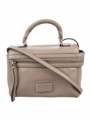 Marc by Marc Jacobs Leather Flap Satchel Silver