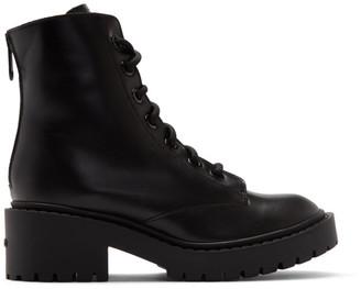 Kenzo Black Pike Fur Lined Boots