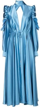 Off-White Flared Long Dress