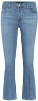 J Brand Selena cropped mid-rise jeans
