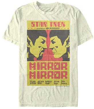 Fifth Sun Original Series Spock Mirror Mens Crew Neck Short Sleeve Star Trek Graphic T-Shirt