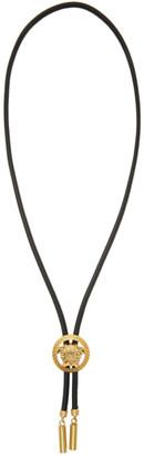 Versace Black Bolo Tie Necklace